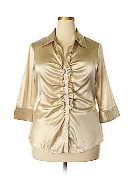 Bernardo 3/4 Sleeve Silk Top Size 18W (Plus)