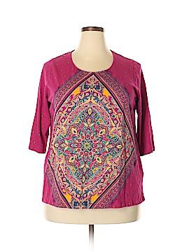Catherines 3/4 Sleeve T-Shirt Size 0X (Plus)