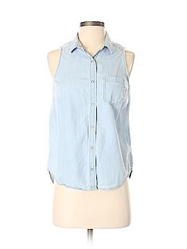 Arizona Jean Company Sleeveless Button-Down Shirt Size S