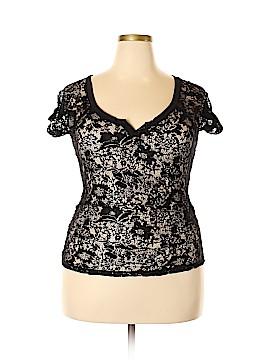 Bongo Short Sleeve Blouse Size 1X (Plus)