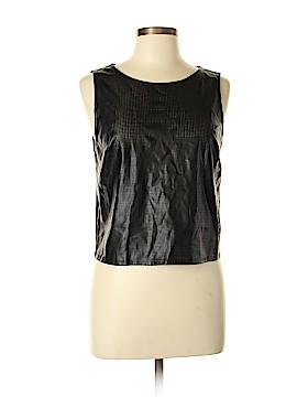 Sparkle & Fade Faux Leather Top Size L