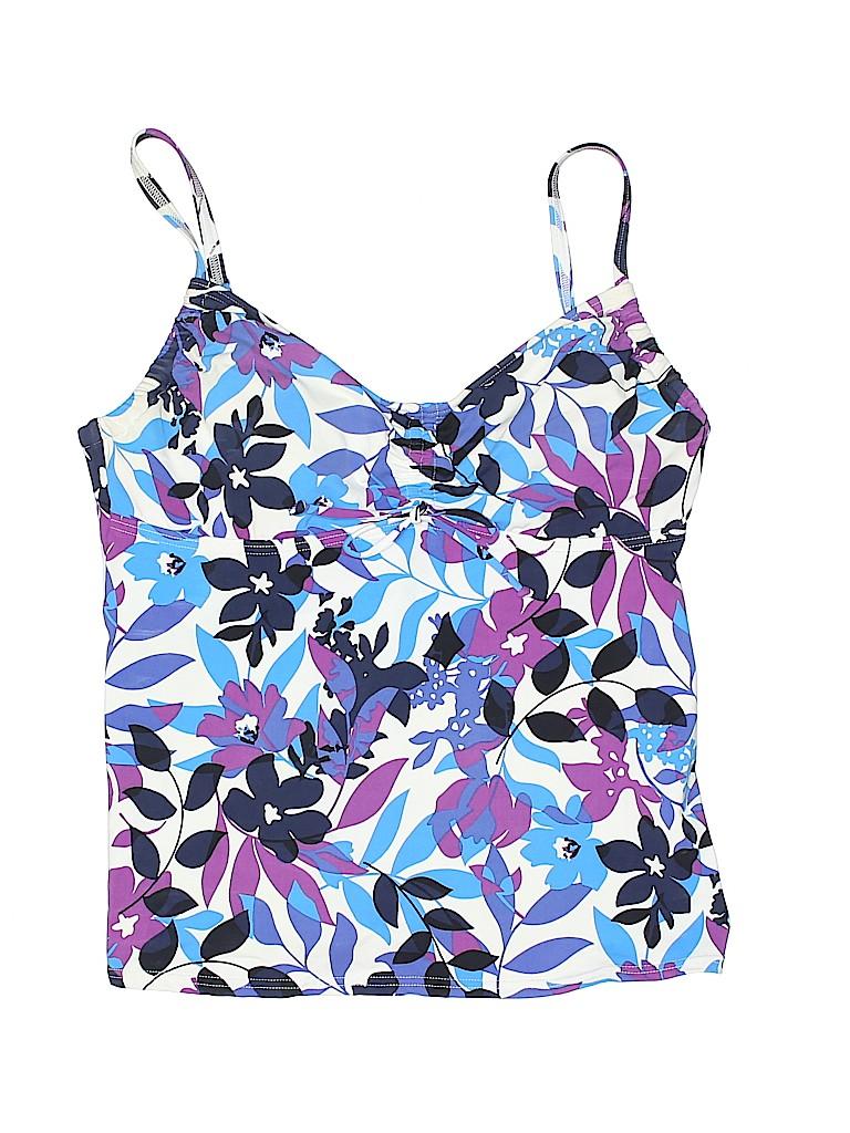 5928d05ff6 Lands' End Print Purple Swimsuit Top Size 10 - 66% off   thredUP