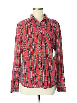 Delia's Long Sleeve Button-Down Shirt Size M