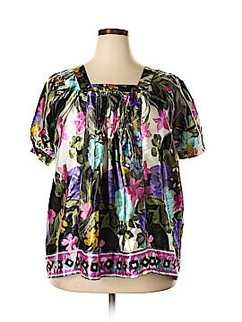 Denim 24/7 Short Sleeve Blouse Size 18 (Plus)