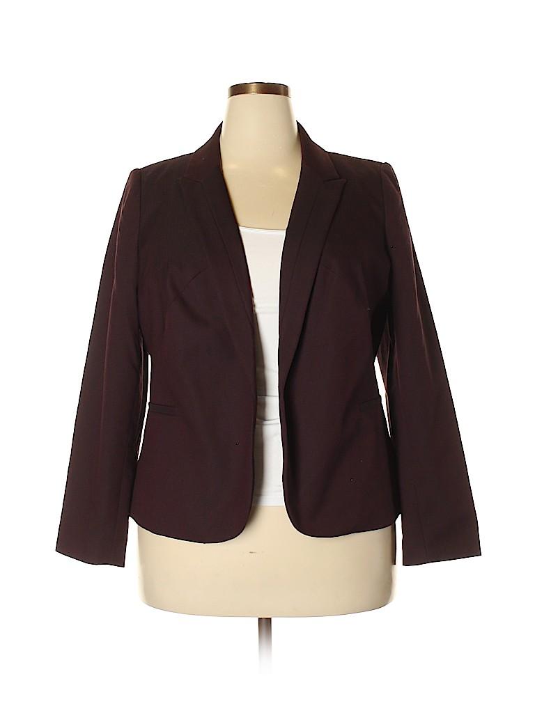 002897ec5e7 Worthington Plus Solid Dark Purple Blazer Size 1X (Plus) - 59% off ...