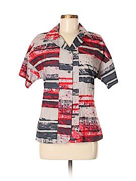 Cividini Short Sleeve Button-Down Shirt Size 44 (IT)