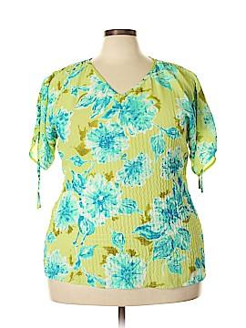 Avenue Short Sleeve Blouse Size 14 (Plus)