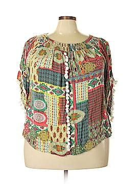 Ali Miles 3/4 Sleeve Blouse Size 1X (Plus)