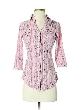 FANG 3/4 Sleeve Button-Down Shirt Size XS