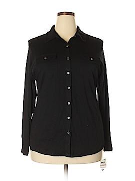 Karen Scott Long Sleeve Button-Down Shirt Size 1X (Plus)