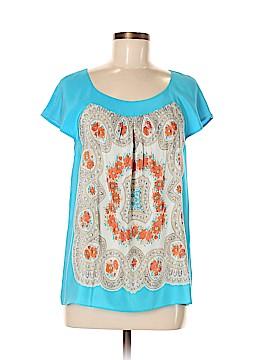 Moulinette Soeurs Short Sleeve Silk Top Size M