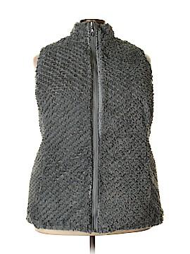 D&Co. Faux Fur Vest Size 3X (Plus)