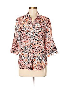 Ann Taylor Factory Short Sleeve Button-Down Shirt Size 6