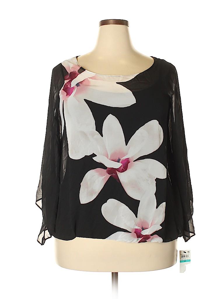 Alfani Women Long Sleeve Blouse Size 0X (Plus)