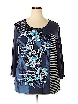Karen Scott Sport 3/4 Sleeve T-Shirt Size 2X (Plus)