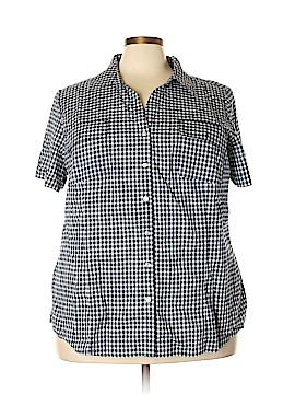 Karen Scott Short Sleeve Button-Down Shirt Size 3X (Plus)
