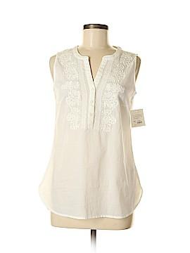 Croft & Barrow Sleeveless Button-Down Shirt Size S