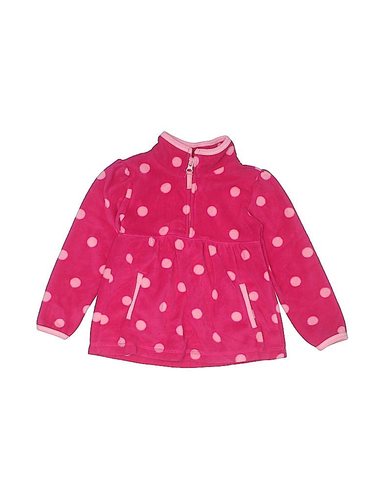 5b7b58d72 Old Navy 100% Polyester Polka Dots Pink Fleece Jacket Size 4T - 58 ...