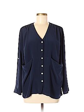 AKA New York Long Sleeve Button-Down Shirt Size M