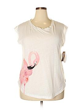 RACHEL Rachel Roy Short Sleeve T-Shirt Size 0X (Plus)