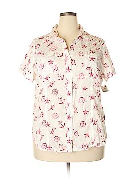 Karen Scott Short Sleeve Button-Down Shirt Size 1X (Plus)