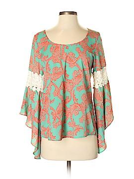 VOOM by Joy Han Long Sleeve Blouse Size S