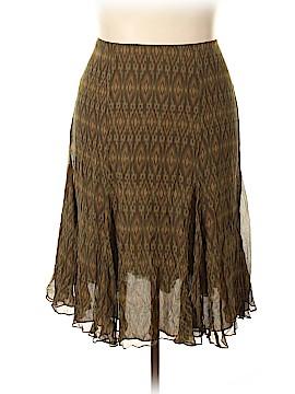 Lauren by Ralph Lauren Silk Skirt Size 18 (Plus)
