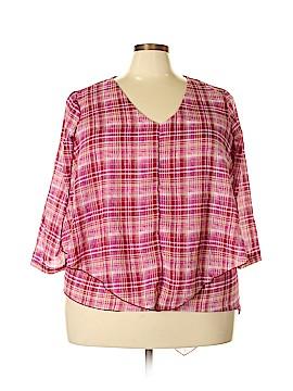 Jennifer Lauren 3/4 Sleeve Blouse Size 2X (Plus)
