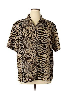TanJay Short Sleeve Blouse Size 16