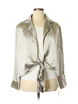 Ellen Tracy Long Sleeve Silk Top Size 16