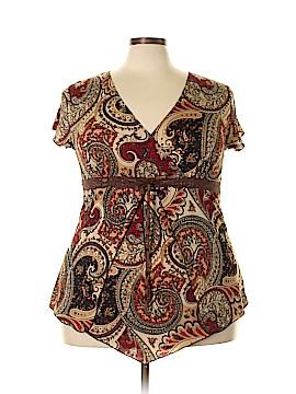 Julie's Closet Short Sleeve Top Size 3X (Plus)
