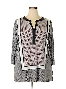 Jones New York Collection 3/4 Sleeve Top Size 2X (Plus)
