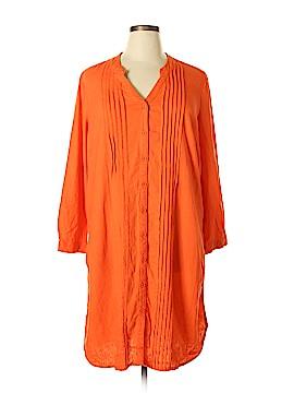 Roaman's Long Sleeve Button-Down Shirt Size 16
