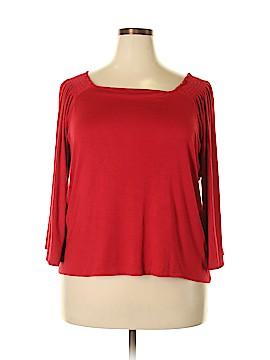 IMAN 3/4 Sleeve Top Size 1X (Plus)