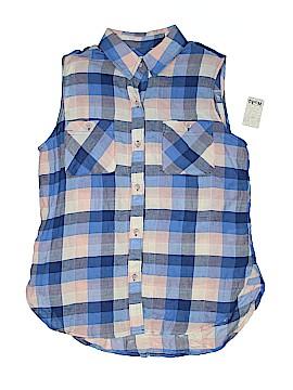 Mudd Sleeveless Button-Down Shirt Size M
