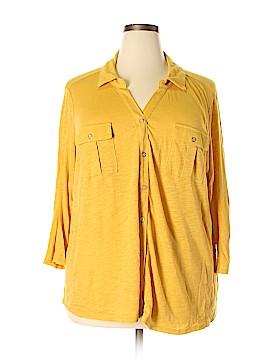 Liz Claiborne 3/4 Sleeve Button-Down Shirt Size 3X (Plus)