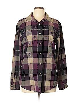 Bobbie Brooks Long Sleeve Button-Down Shirt Size XL