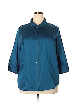 Lane Bryant Outlet 3/4 Sleeve Button-Down Shirt Size 22 - 24 Plus (Plus)