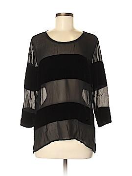 Go Silk 3/4 Sleeve Silk Top Size M