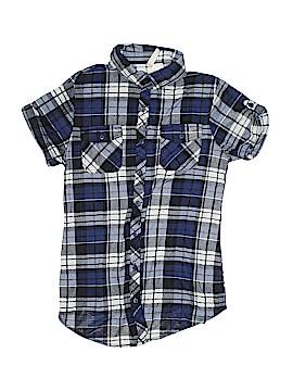 Bella D Short Sleeve Button-Down Shirt Size S