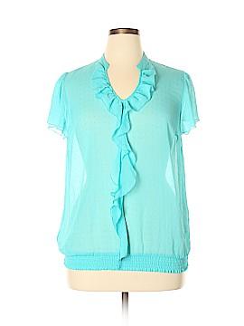 Lane Bryant Outlet Short Sleeve Blouse Size 14 - 16 Plus (Plus)