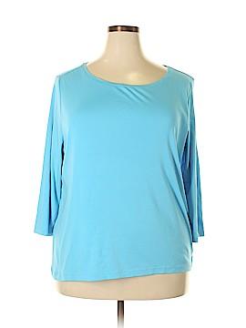 Talbots 3/4 Sleeve T-Shirt Size 2X (Plus)