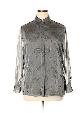 Valerie Stevens Long Sleeve Blouse Size 14