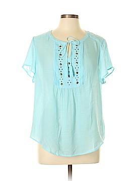 Liz Claiborne Short Sleeve Blouse Size XL (Petite)