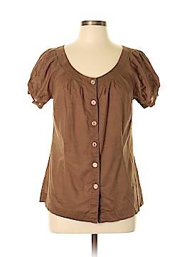 Caslon Short Sleeve Button-Down Shirt Size L