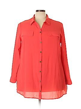 Catherines Long Sleeve Blouse Size 1X (Plus)