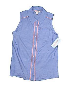 Cat & Jack Sleeveless Button-Down Shirt Size L (Kids)