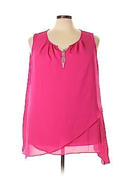Avenue Sleeveless Button-Down Shirt Size 26 - 28 (Plus)