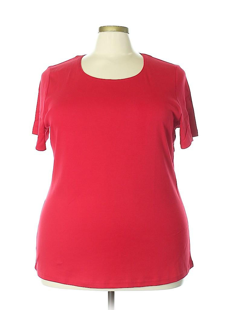 Karen Scott Women Short Sleeve T-Shirt Size 2X (Plus)