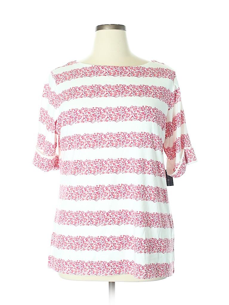 Karen Scott Women Short Sleeve T-Shirt Size 1X (Plus)